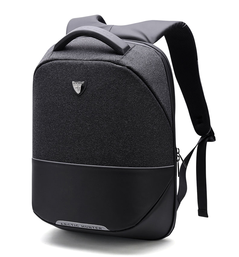 8f19f442114 ARCTIC HUNTER τσάντα πλάτης B00216-BK, laptop, USB, αδιάβροχη, μαύρη
