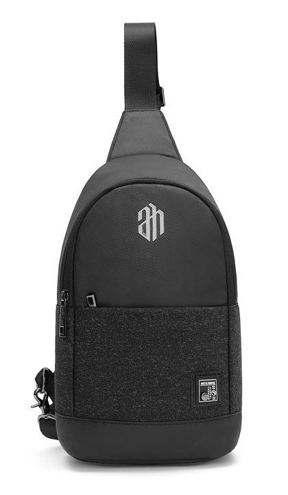 7b53492108c ARCTIC HUNTER τσάντα Crossbody XB00064-BK, αδιάβροχη, μαύρη